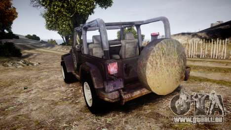 Jeep Wrangler Unlimited Rubicon pour GTA 4 Vue arrière de la gauche