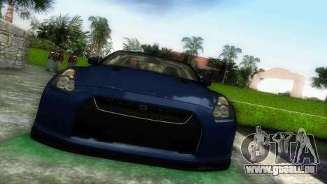 Nissan GT-R SpecV Black Revel pour une vue GTA Vice City de la gauche