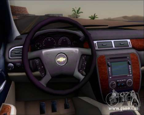 Chevrolet Silverado Gope für GTA San Andreas Innenansicht