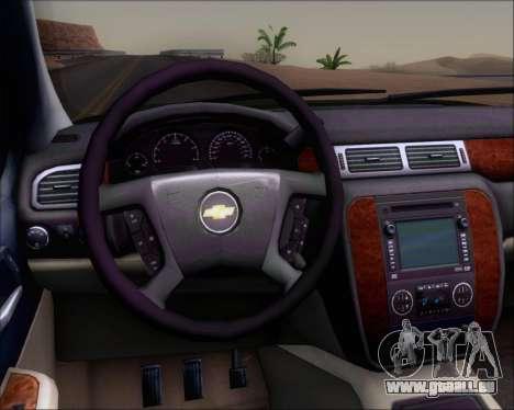 Chevrolet Silverado Gope pour GTA San Andreas vue intérieure