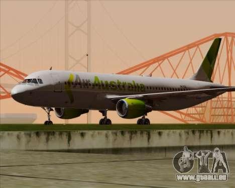 Airbus A320-200 Air Australia für GTA San Andreas zurück linke Ansicht