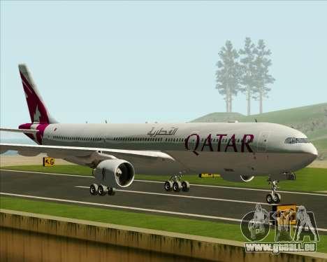Airbus A330-300 Qatar Airways pour GTA San Andreas laissé vue