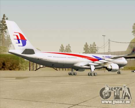 Airbus A330-323 Malaysia Airlines pour GTA San Andreas vue arrière