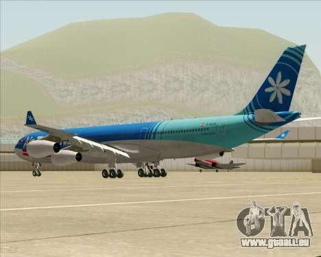 Airbus A340-313 Air Tahiti Nui für GTA San Andreas zurück linke Ansicht