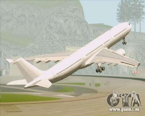 Airbus A330-300 Full White Livery pour GTA San Andreas vue de dessous