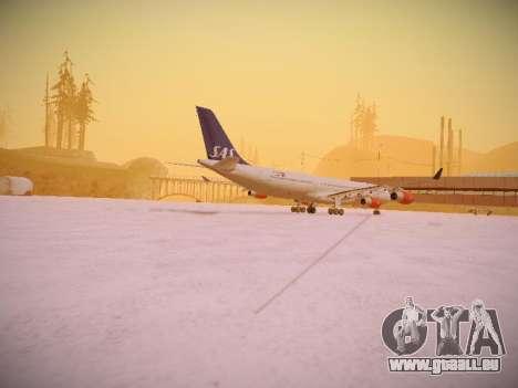 Airbus A340-300 Scandinavian Airlines pour GTA San Andreas vue arrière