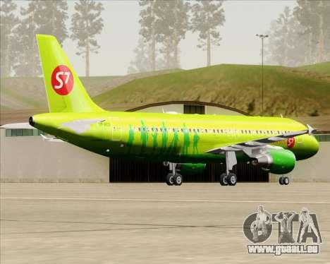 Airbus A320-214 S7-Siberia Airlines für GTA San Andreas rechten Ansicht