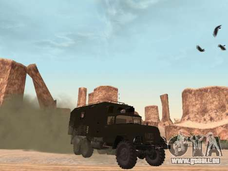 ZIL 131 Kung für GTA San Andreas linke Ansicht