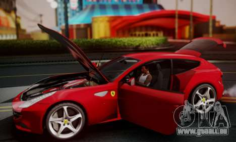 Ferrari FF 2012 pour GTA San Andreas vue de dessus
