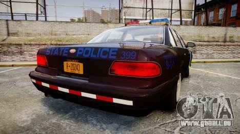 Vapid Police Cruiser LSPD Generation [ELS] pour GTA 4 Vue arrière de la gauche