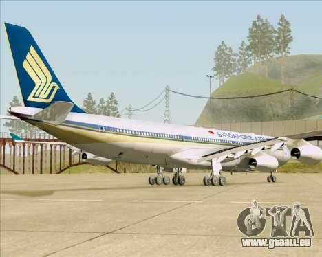 Airbus A340-313 Singapore Airlines für GTA San Andreas Rückansicht