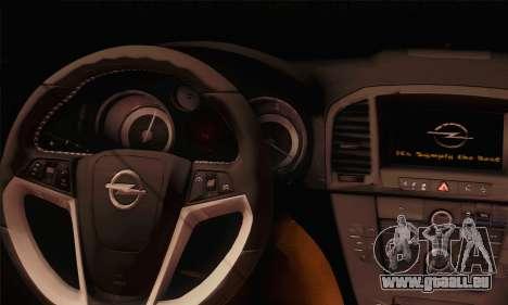 Opel Insignia OPC ATS Cup für GTA San Andreas zurück linke Ansicht