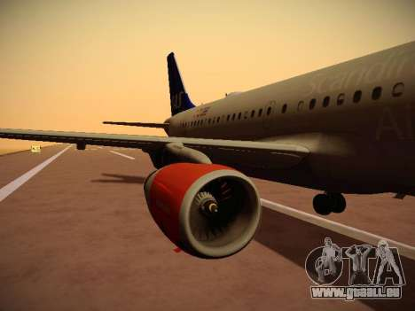 Airbus A319-132 Scandinavian Airlines pour GTA San Andreas salon