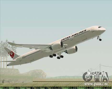 Airbus A350-941 Japan Airlines für GTA San Andreas Unteransicht