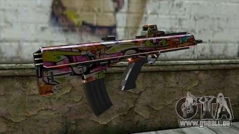 Graffiti Assault rifle pour GTA San Andreas deuxième écran