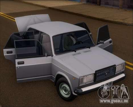 LADA 2107 pour GTA San Andreas vue arrière
