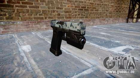 Pistolet Glock 20 crânes pour GTA 4