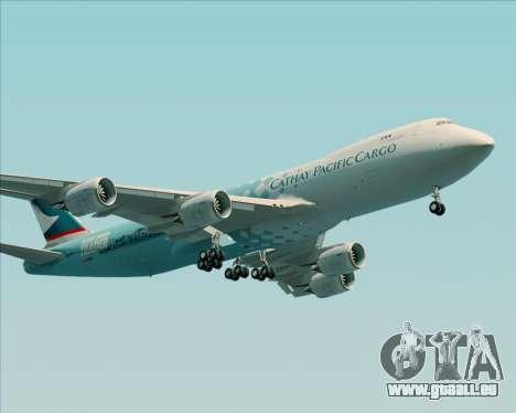 Boeing 747-8 Cargo Cathay Pacific Cargo für GTA San Andreas zurück linke Ansicht