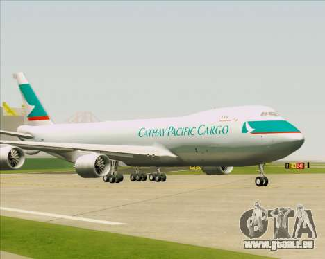 Boeing 747-8 Cargo Cathay Pacific Cargo pour GTA San Andreas laissé vue