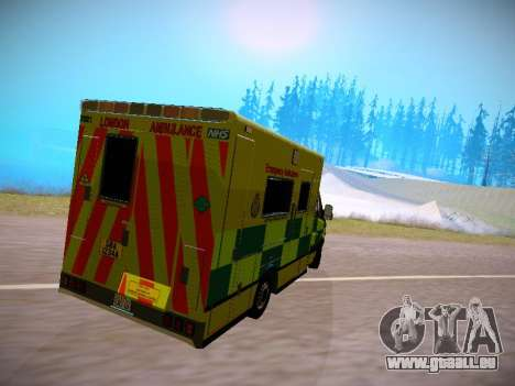 Mercedes-Benz Sprinter London Ambulance für GTA San Andreas zurück linke Ansicht