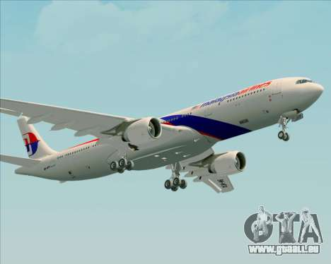 Airbus A330-323 Malaysia Airlines pour GTA San Andreas vue intérieure