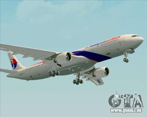 Airbus A330-323 Malaysia Airlines für GTA San Andreas Innenansicht