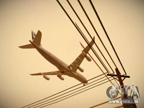 Airbus A340-300 Cathay Pacific pour GTA San Andreas salon