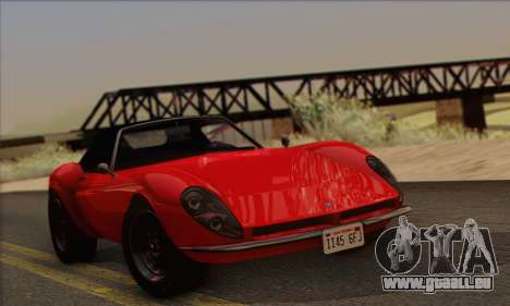 Grotti Stinger 1.0 (IVF) pour GTA San Andreas sur la vue arrière gauche