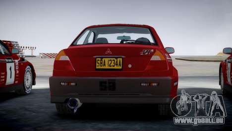 Mitsubishi Lancer Evolution VI Rally für GTA 4 linke Ansicht