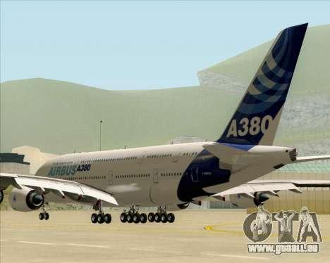 Airbus A380-861 für GTA San Andreas zurück linke Ansicht