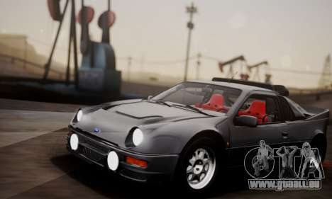 Ford RS200 Evolution 1985 für GTA San Andreas Innenansicht