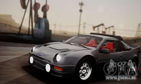Ford RS200 Evolution 1985 pour GTA San Andreas vue intérieure