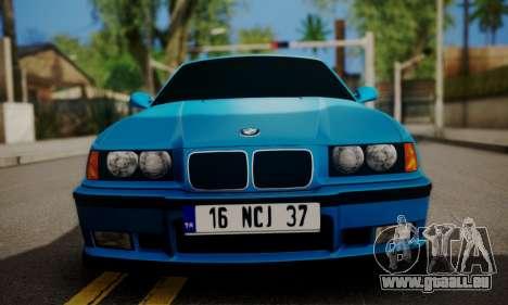 BMW M3 E36 für GTA San Andreas zurück linke Ansicht