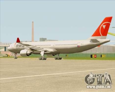 Airbus A330-300 Northwest Airlines pour GTA San Andreas vue intérieure