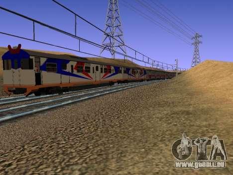 Indonesische diesel-Zug MCW-302 für GTA San Andreas rechten Ansicht