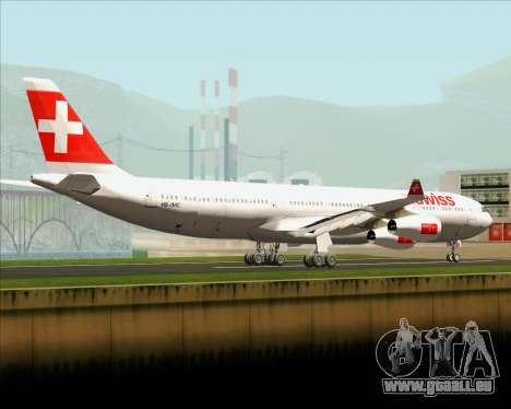 Airbus A340-313 Swiss International Airlines für GTA San Andreas zurück linke Ansicht