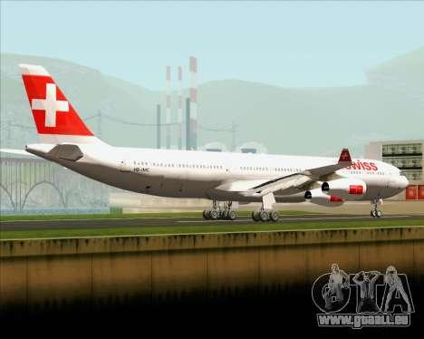Airbus A340-313 Swiss International Airlines pour GTA San Andreas sur la vue arrière gauche