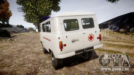 UAZ-39629 ambulance Hongrie pour GTA 4 Vue arrière de la gauche