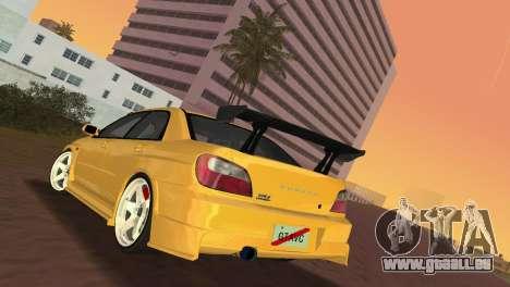 Subaru Impreza WRX 2002 Type 5 für GTA Vice City rechten Ansicht