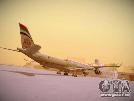 Airbus A340-600 Etihad Airways für GTA San Andreas rechten Ansicht