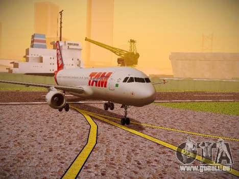 Airbus A320-214 TAM Airlines für GTA San Andreas linke Ansicht