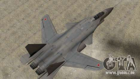 Sukhoi SU-47 Berkut from H.A.W.X. 2 Stealth Skin für GTA San Andreas zurück linke Ansicht