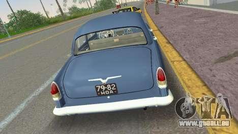 GAZ-21R Volga 1965 für GTA Vice City rechten Ansicht