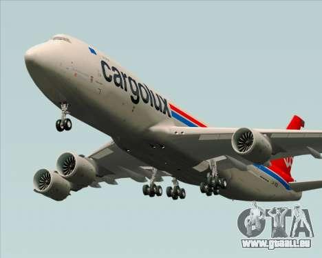 Boeing 747-8 Cargo Cargolux pour GTA San Andreas vue intérieure