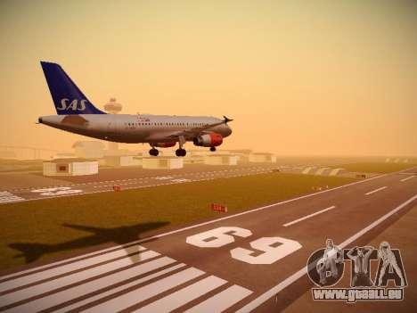 Airbus A319-132 Scandinavian Airlines für GTA San Andreas rechten Ansicht