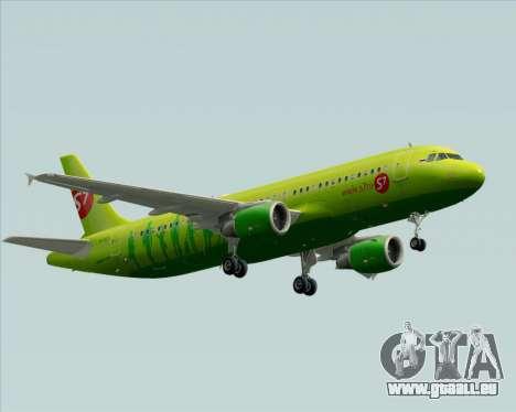 Airbus A320-214 S7-Siberia Airlines für GTA San Andreas Rückansicht