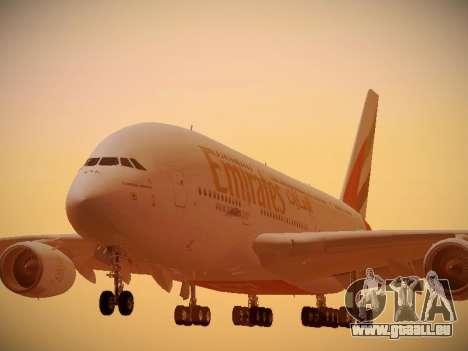 Airbus A380-800 Emirates für GTA San Andreas linke Ansicht
