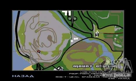 Sasquatch (Bigfoot) sur le mont Chiliade pour GTA San Andreas quatrième écran