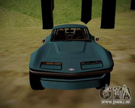 Coquette Classic GTA 5 DLC pour GTA San Andreas sur la vue arrière gauche