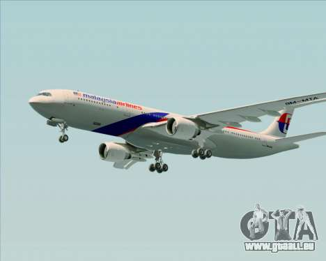 Airbus A330-323 Malaysia Airlines für GTA San Andreas obere Ansicht
